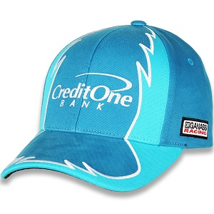 Kyle Larson #42 2018 Credit One blue twill Jagged hat