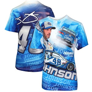 Jimmie Johnson #48 Lowes Sublimated total print tee shirt