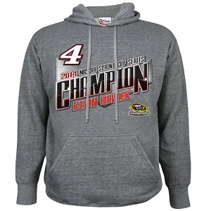 Kevin Harvick #4 2014 Sprint Cup Champion gray hooded sweatshirt