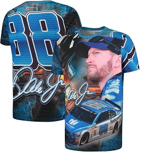 Dale Earnhardt Jr #88 Nationwide Insurance Sublimated total print tee shirt