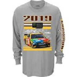 Kyle Busch #18 2019 M and Ms Monster Energy Cup Champion long-sleeved t-shirt