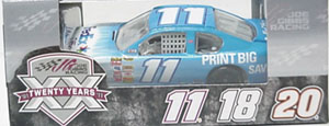 Denny Hamlin #11 1/64th 2011 Lionel FedEx Print big/Save big Camry