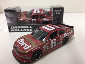Darrell Wallace Jr #6 1/64th 2016 Lionel Ford Darlington Throwback Mustang