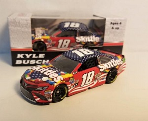 Kyle Busch #18 1/64th 2017 Lionel Skittles Red White and Blue Toyota Camry