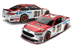 Ryan Blaney #21 1/64th 2017 Lionel Motorcraft Pocono Win Raced version Ford