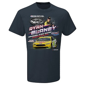 Ryan Blaney #12 2018 Menards/Pennzoil ROVAL Inaugural win gray t-shirt