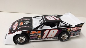 Scott Bloomquist #18 1/24th 2017 ADC 1997 Throwback dirt late model