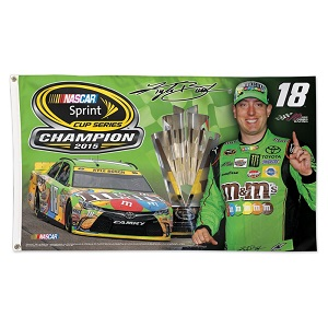 Kyle Busch #18 2015 Sprint Cup Champion 3'x5' double sided deluxe flag