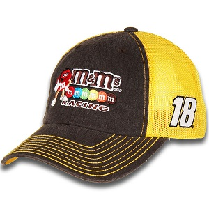 Kyle Busch #18 2018 M&Ms Racing brown and gold trucker mesh hat