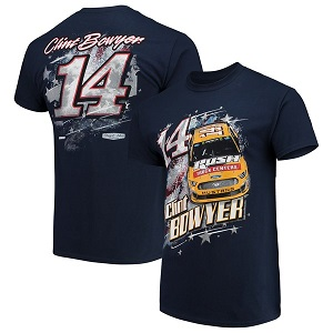 Clint Bowyer #14 2019 Rush Truck Centers Patriotic navy blue  t-shirt