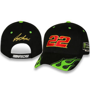 Joey Logano #22 2018 flame NASCAR Monster Energy Cup Championship hat