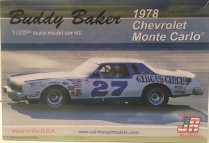 Buddy Baker #27 1/25th Circus Circus 1978 Chevrolet Monte Carlo plastic model kit