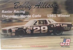 Bobby Allison #28 1/25th Ranier Racing Chevrolet Monte Carlo 1981 Winner plastic model kit