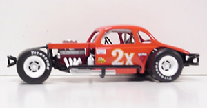Eddie Flemke #2X 1/25th 2008 Nutmeg modified coupe