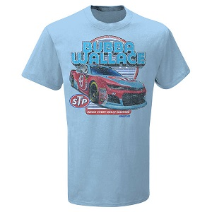 Bubba Wallace #43 2018 STP blue t-shirt