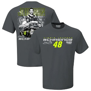 Jimmie Johnson #48 One Last Ride gray t-shirt