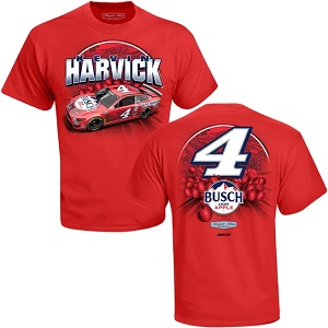 Kevin Harvick #4 Buschhh Light Apple red t-shirt