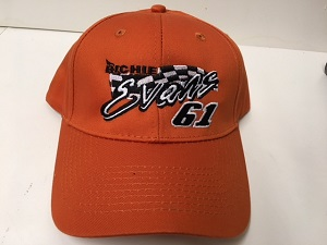 Richie Evans #61 orange twill hat