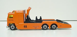 Richie Evans #61 1/64th  Big Orange custom-built ramp truck