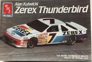 Alan Kulwicki #7 Zerex Ford Thunderbird AMT plastic model kit