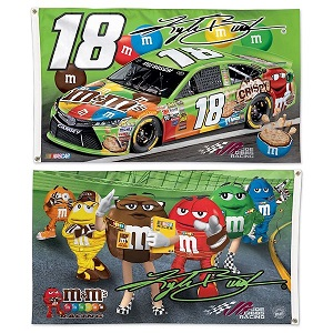 Kyle Busch #18 Crispy M and Ms  double sided deluxe flag