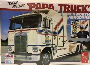Tyrone Malone's Kenworth Aerodyne Papa Truck AMT 1/25th plastic model kit