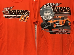 Richie Evans #61 Hall of Fame/Pinto orange tee shirt or sweatshirt