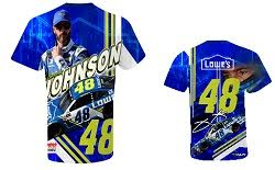Jimmie Johnson #48 Lowes Hendrick Motorsports turbo sublimated t-shirt