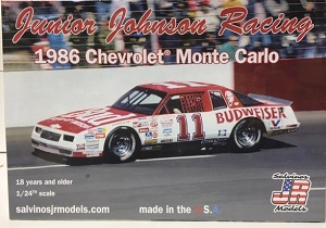 Junior Johnson Racing #11 1986 Budweiser Chevrolet Monte Carlo Salvino Model Car Kit