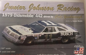 Cale Yarborough #11 1/25th Junior Johnson Busch 1979 442 Oldsmobile model car kit