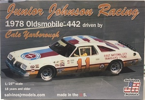 Cale Yarborough #11 Junior Johnson Racing 1978 Oldsmobile 442 Salvinos JR Model kit