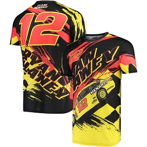 Ryan Blaney #12 2018 Menards Prism sublimated  t-shirt