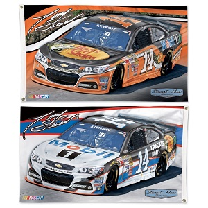 Tony Stewart #14 Mobil 1/Bass Pro Shops two-sided 3'x5' premium flag