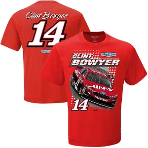 Clint Bowyer #14 red Haas Ford Spoiler tee  shirt