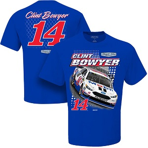 Clint Bowyer #14 blue Mobil 1 Ford Spoiler tee  shirt