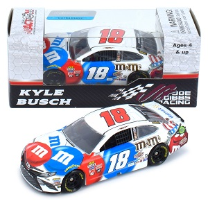Kyle Busch #18 1/64th 2017 Lionel M&Ms Red White and Blue Toyota Camry