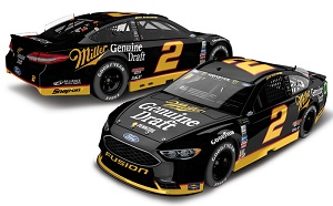 Brad Keselowski #2 1/64th 2017 Lionel Miller Genuine Draft Darlington Ford Fusion
