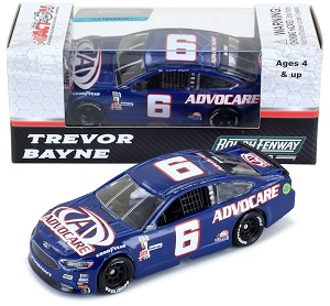 Trevor Bayne #6 1/64th 2017 Lionel Advocare Darlington Throwback Ford Fusion