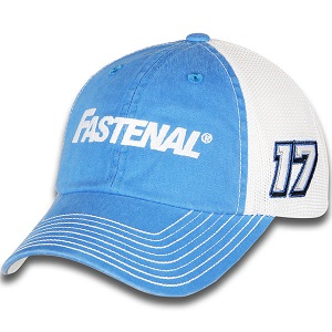 Ricky Stenhouse Jr. #17 2018 Fastenal blue and white trucker mesh hat