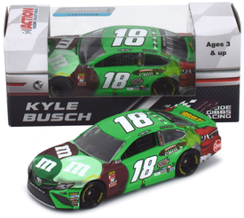 Kyle Busch #18 1/64th 2018 Lionel M and Ms Chocolate Mint flavor winner Toyota Camry