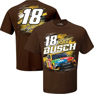 Kyle Busch #18 2018 M&Ms Torque brown t-shirt