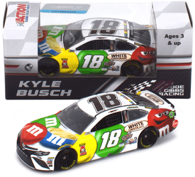 Kyle Busch #18 1/64th 2018 Lionel M and Ms White Chocolate Toyota Camry