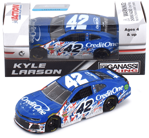 Kyle Larson #42 1/64th 2018 Lionel Credit One Bank Patriotic Raced version Camaro ZL1