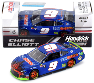 Chase Elliott  #9 1/64th 2018 Lionel SunEnergy Blue Camaro