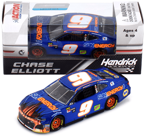 Chase Elliott  #9 1/64th 2018 Lionel SunEnergy Blue Watkins Glen win raced version Camaro