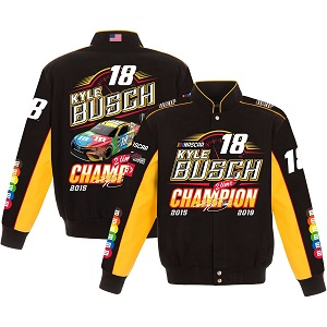 Kyle Busch #18 Monster Energy Cup Championship black jacket
