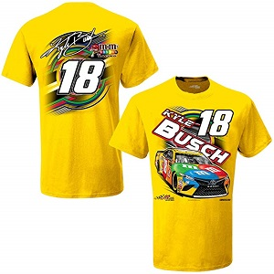 Kyle Busch #18 2019 M and Ms yellow t-shirt