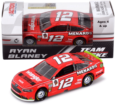 Ryan Blaney #12 1/64th 2018 Lionel Wrangler Riggs Workwear Ford Fusion