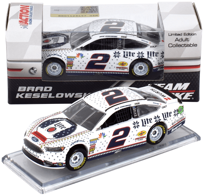 Brad Keselowski #2 1/64th 2018 Lionel Miller Lite Holiday Knitwear Ford Fusion