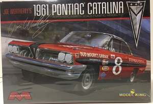 Joe Weatherly #8 1961 Pontiac Catalina NASCAR stock car Model King 1/25th  plastic model kit